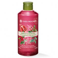 Gel Tắm Yves Rocher Pomegranate Pink Berries Energizing Bath and Shower Gel 400ml